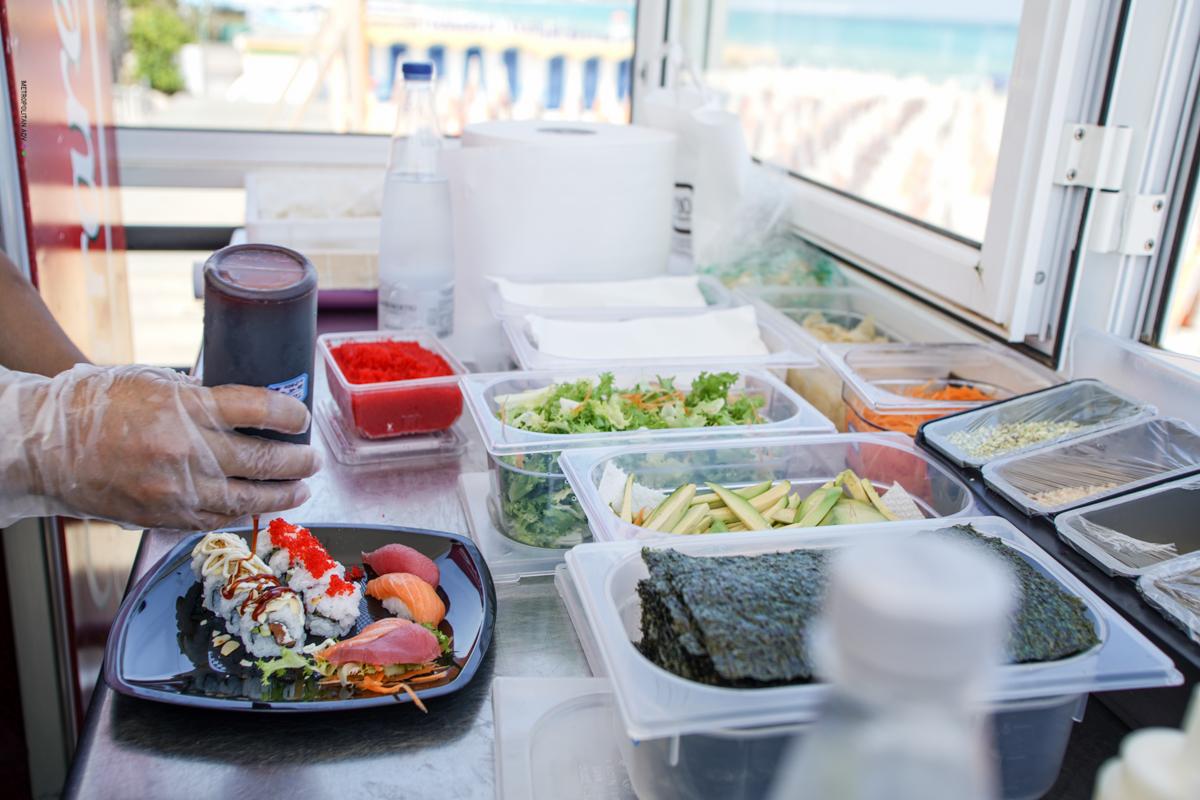 sushi a pranzo vista mare otranto