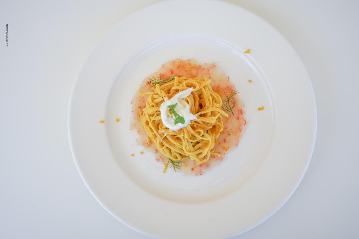 piatto di pasta estivo balnearea otranto